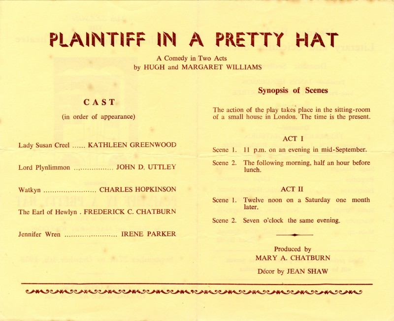 Plaintiff in a Pretty Hat, 1958