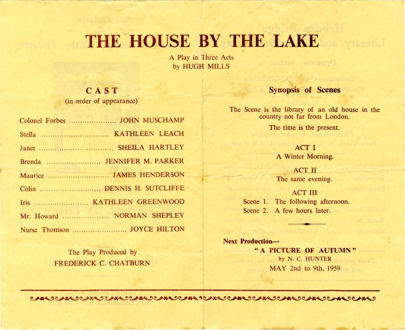 The House by the Lake, 1959