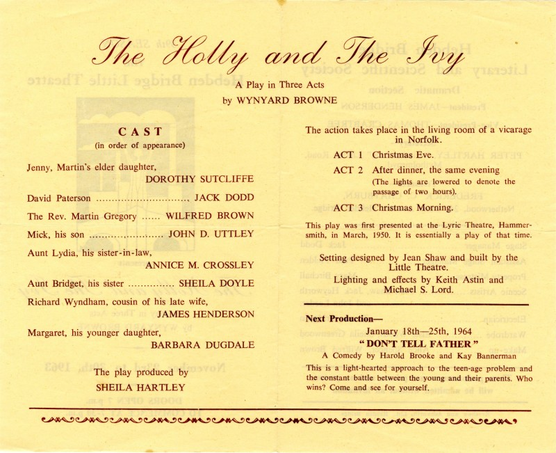 The Holly and The Ivy, 1963