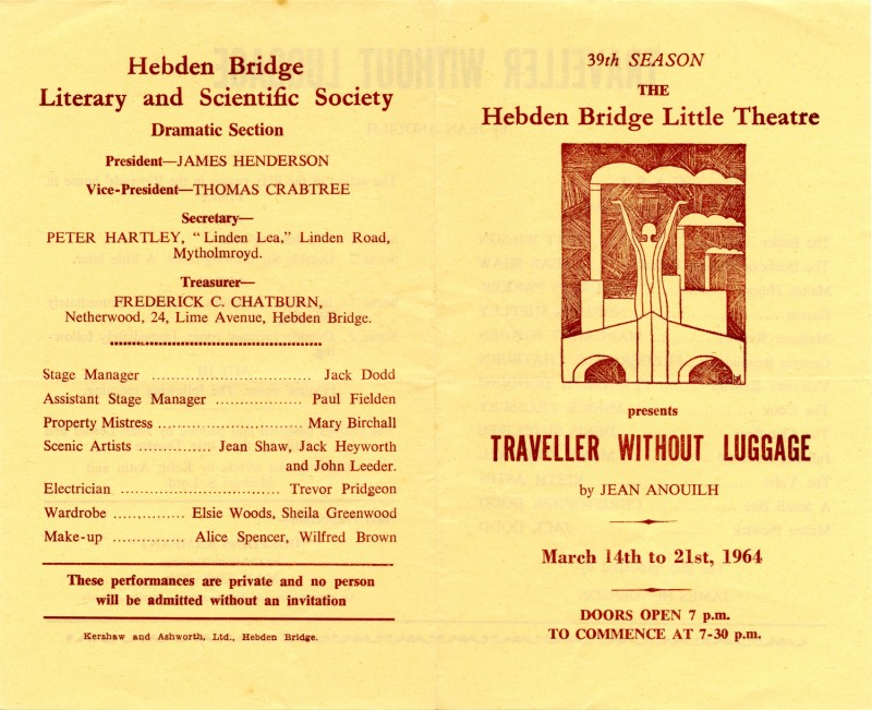 Traveller Without Luggage, by Jean Anouilh, directed by James Henderson, 14-21 1964