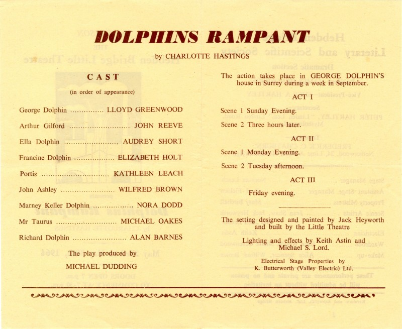 Dolphins Rampant, 1964