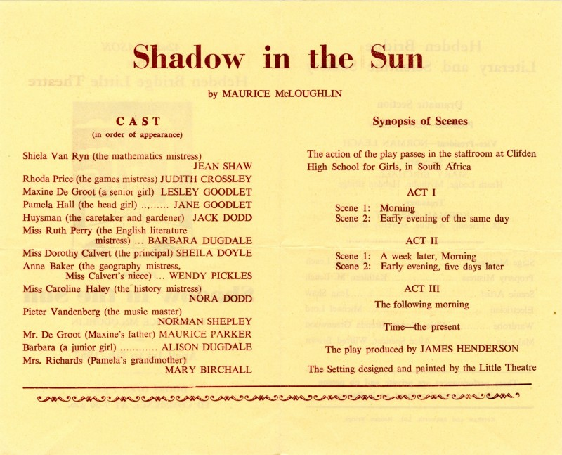 Shadow in the Sun, 1967