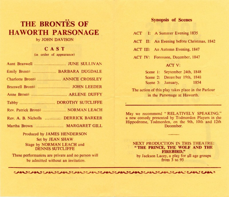 The Brontes of Haworth Parsonage, 1970
