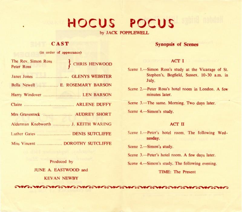 Hocus Pocus programme