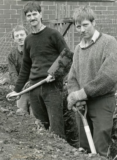 Digging the foundations for the new theatre (1990)