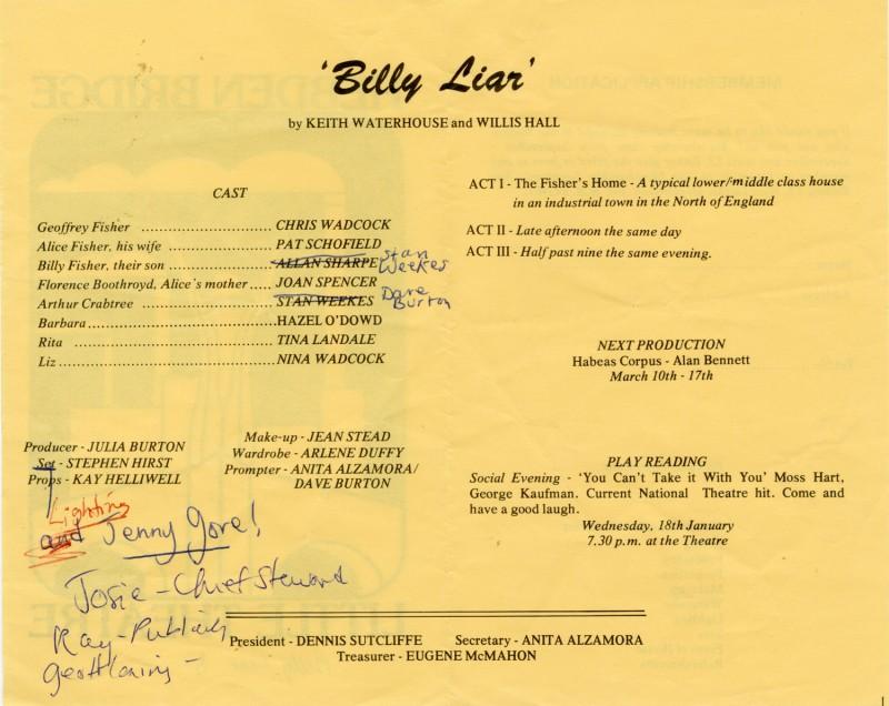Billy Liar, 1983