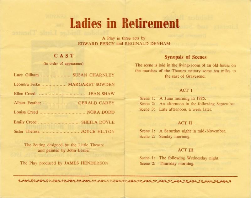 Ladies in Retirement, 1965