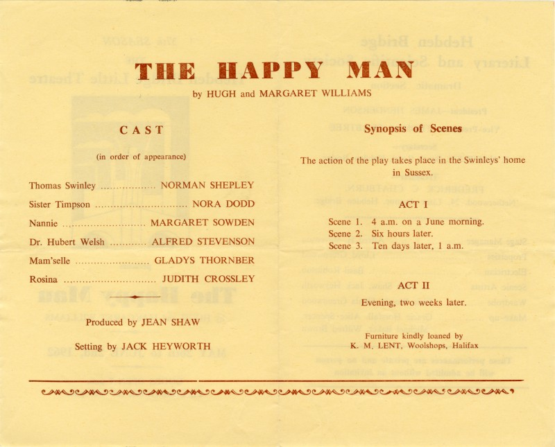 The Happy Man, 1962