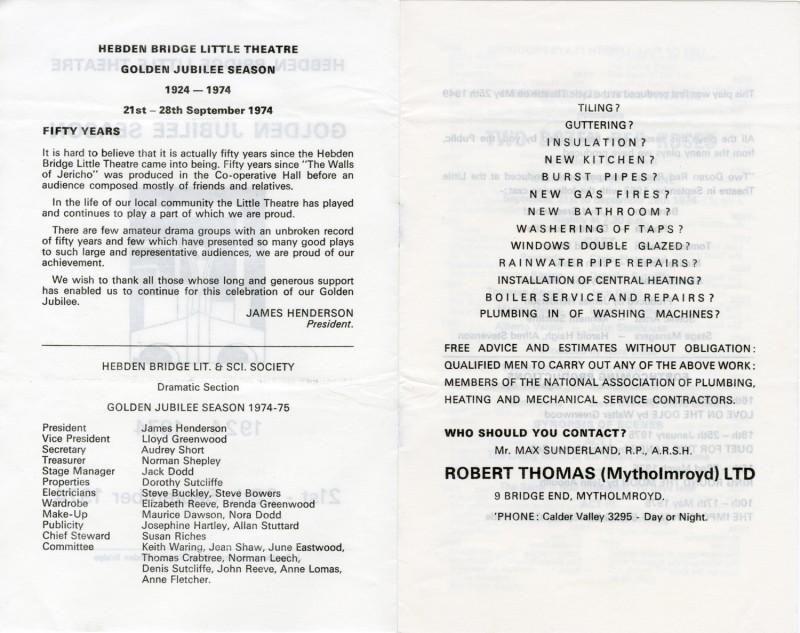 Golden Jubilee Programme, 1974