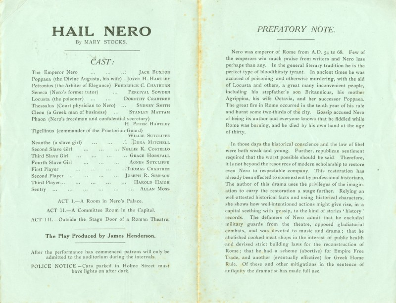 Hail Nero, 1937