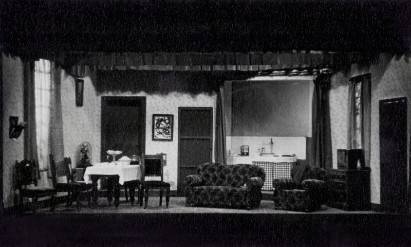 Set for Roots, by Arnold Wesker, directed by James Henderson, 31 March-7 April 1962