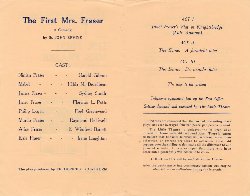 The First Mrs Fraser, 1940