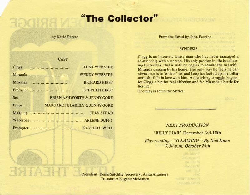 The Collector, 1983