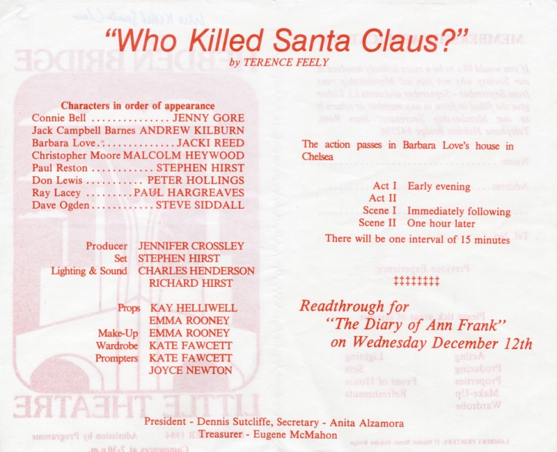 Who Killed Santa Claus, 1984