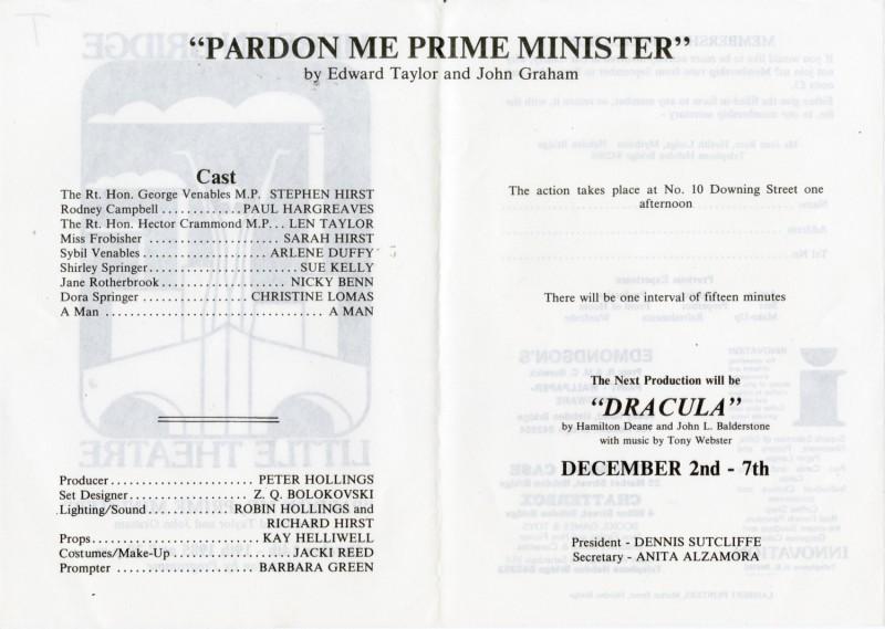 Pardon Me Prime Minister, 1985
