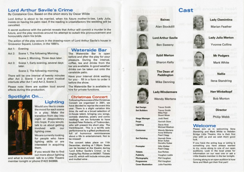 Lord Arthur Saville's Crime, 2004