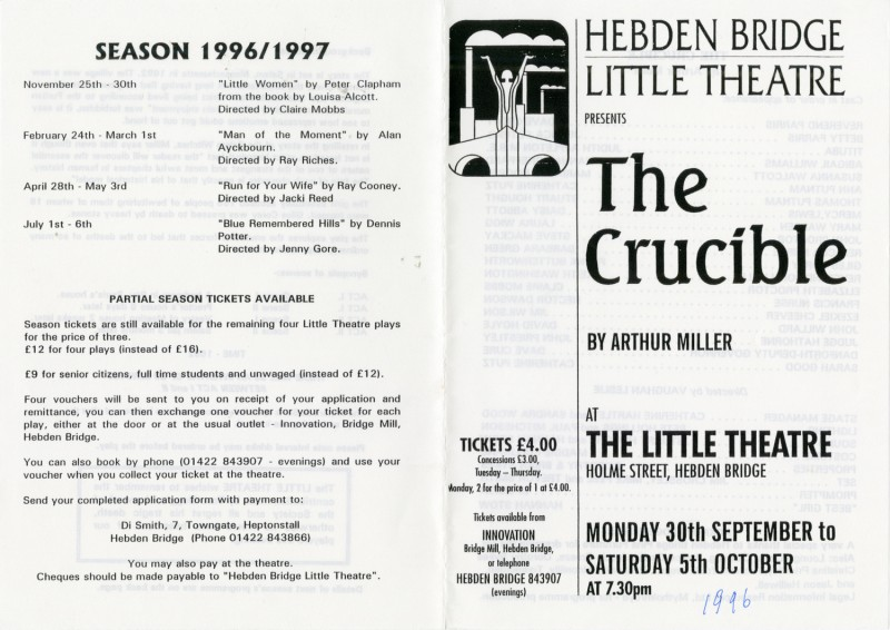 The Crucible, 1996