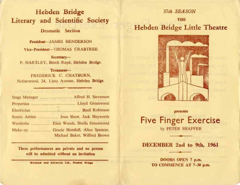 Five Finger Exercise programme, 1961