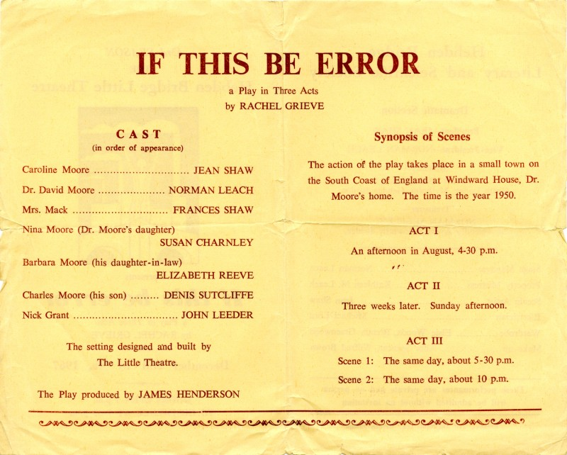 If this be error programme, 1967