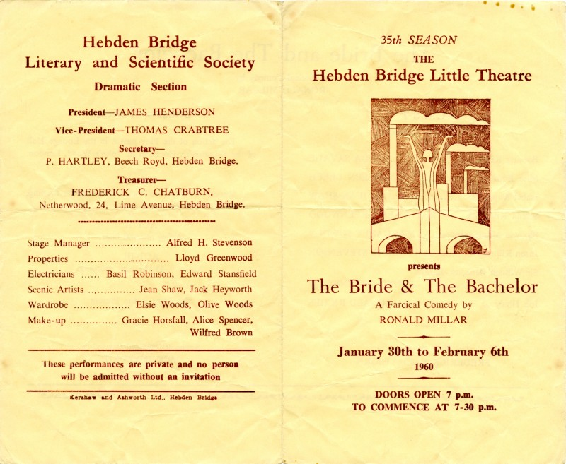The Bride and the Bachelor programme, 1960
