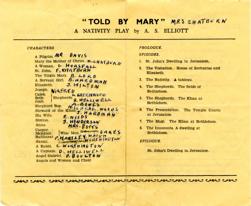 Told By Mary, 1952