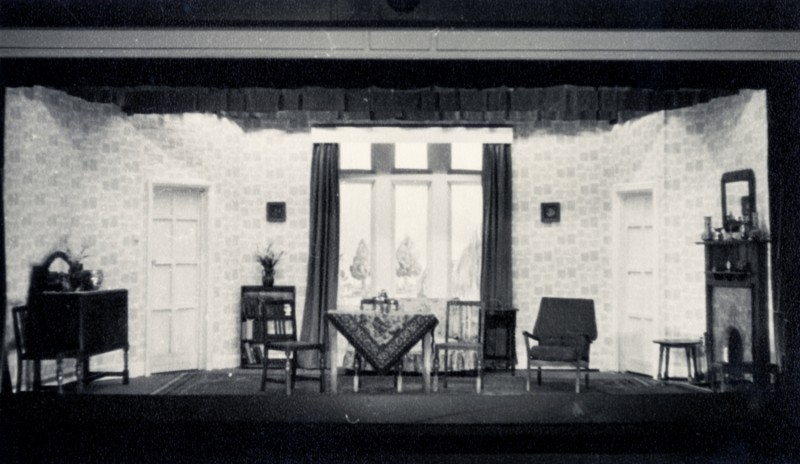 Set for Off The Deep End, by Dennis Driscoll, directed by Nora Dodd, 25 September - 2 October 1965