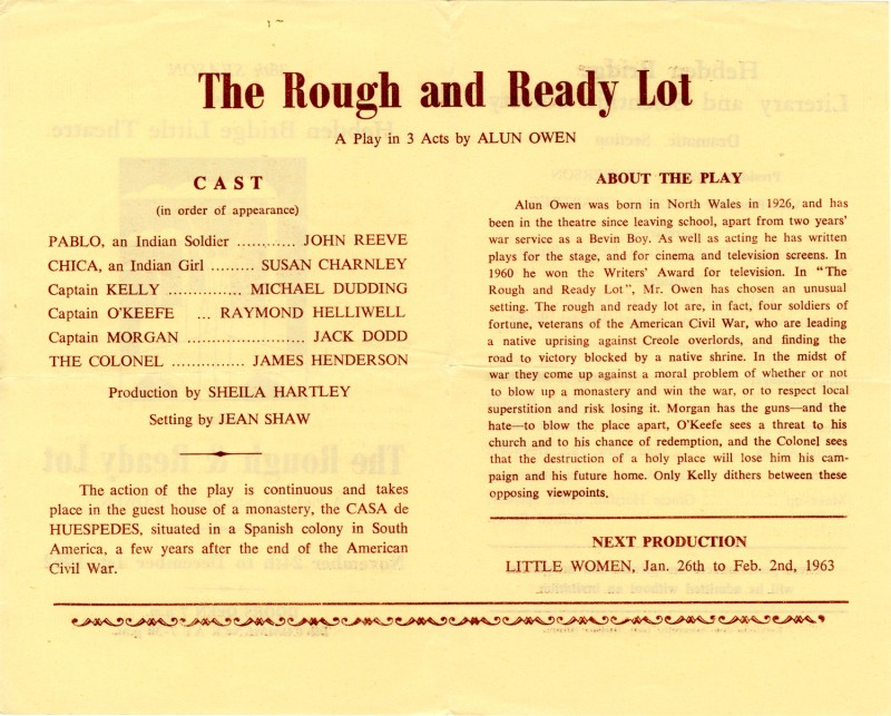 The Rough and Ready Lot programme, 1962