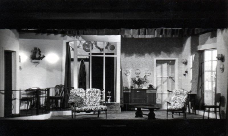 Set for Five Finger Exercise, by Peter Shaffer, directed by Mary Birchall, 2-9 December 1961
