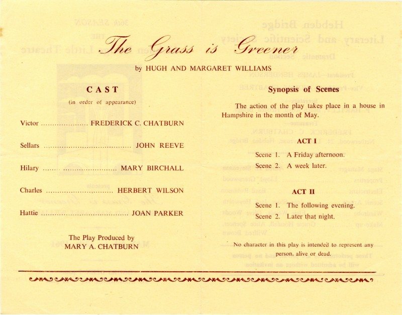 The Grass is Greener programme, 1961