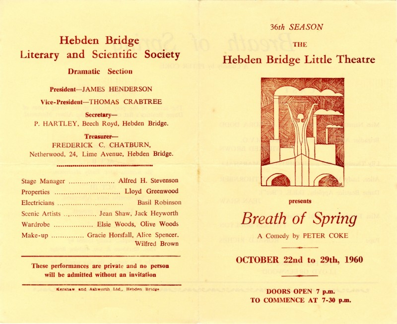 Breath of Spring programme, 1960