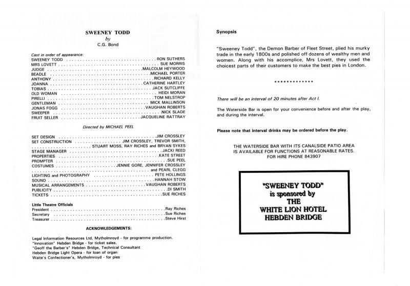 Sweeney Todd, 1998