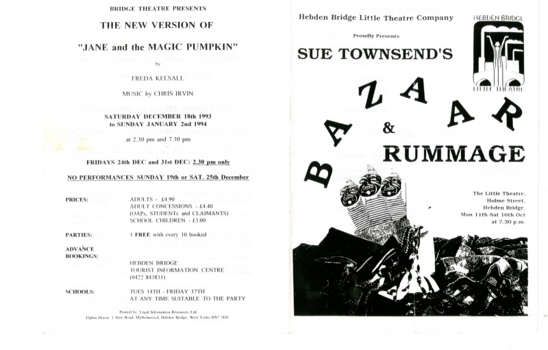 Bazaar and Rummage, by Sue Townsend Directed by Jenny Gore, 11-16 October 1993
