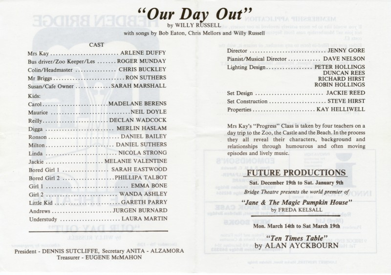 Our Day Out, 1987