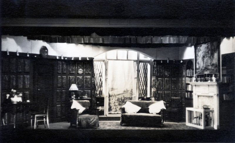 Set for A Question of Fact, by Wynwarde Browne, produced by James Henderson, 18-25 January, 1958