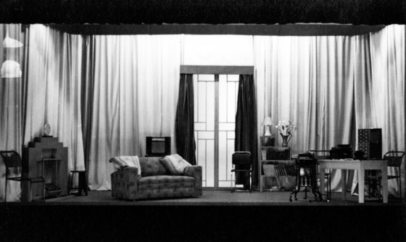 Set for The Woman and the Walnut Tree, 1937. Hebden Bridge Little Theatre
