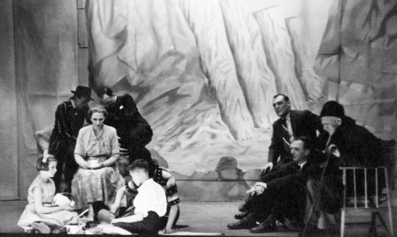 A Day by the Sea, by N.C. Hunter Directed by F.C. Chatburn, 11-18 May 1957 Mary Chatburn, seated left. On right is Lloyd Greenwood, and seated front Norman Leach