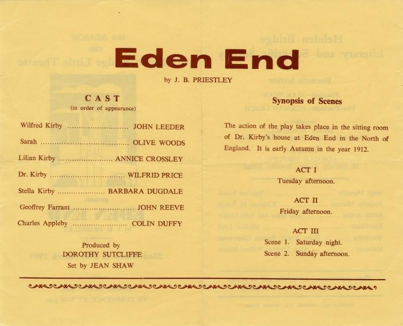 Eden End, 1969