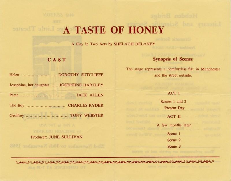 A Taste of Honey, 1968