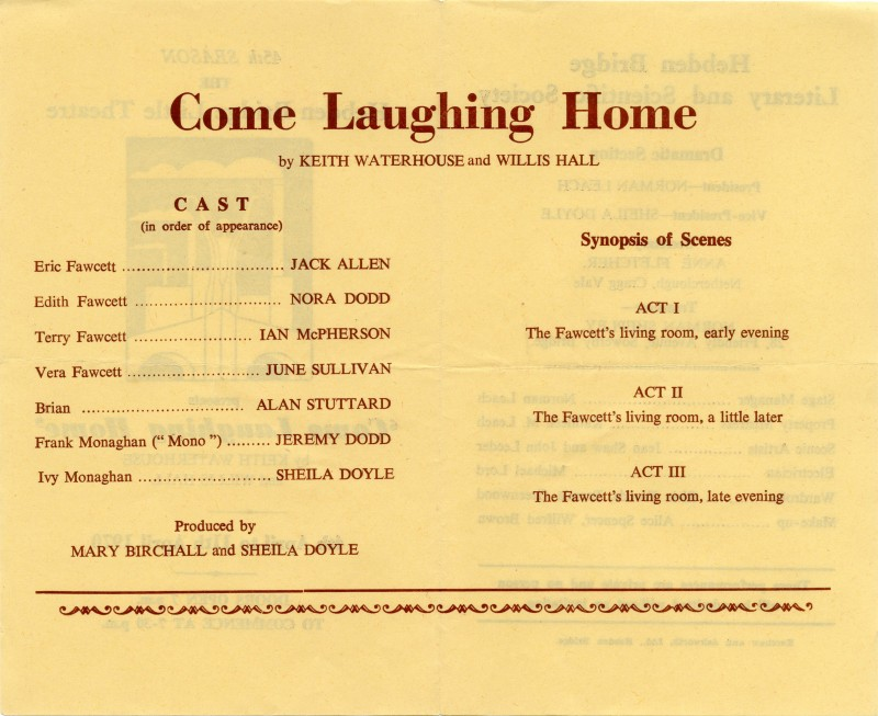 Come Laughing Home, 1970