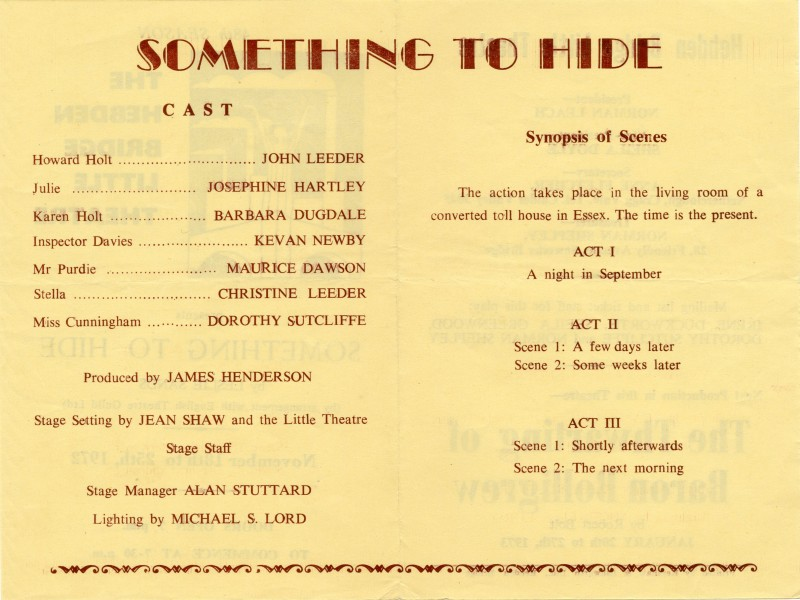 Something to Hide programme