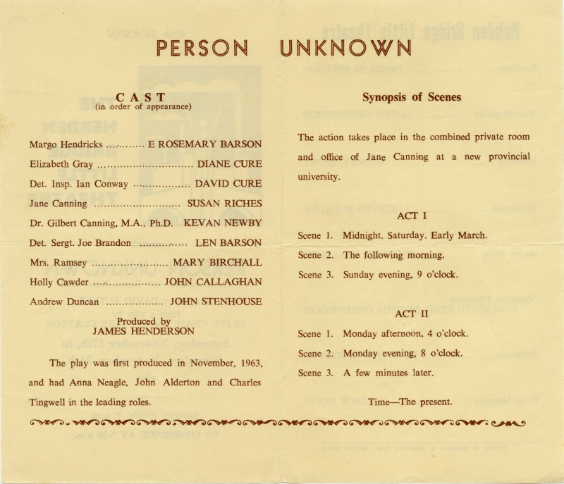 Person Unknown programme
