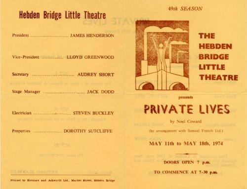 Private Lives, 1974
