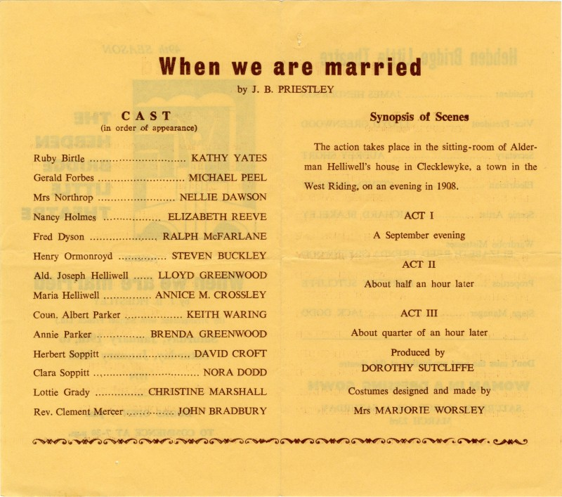 When we are Married programme