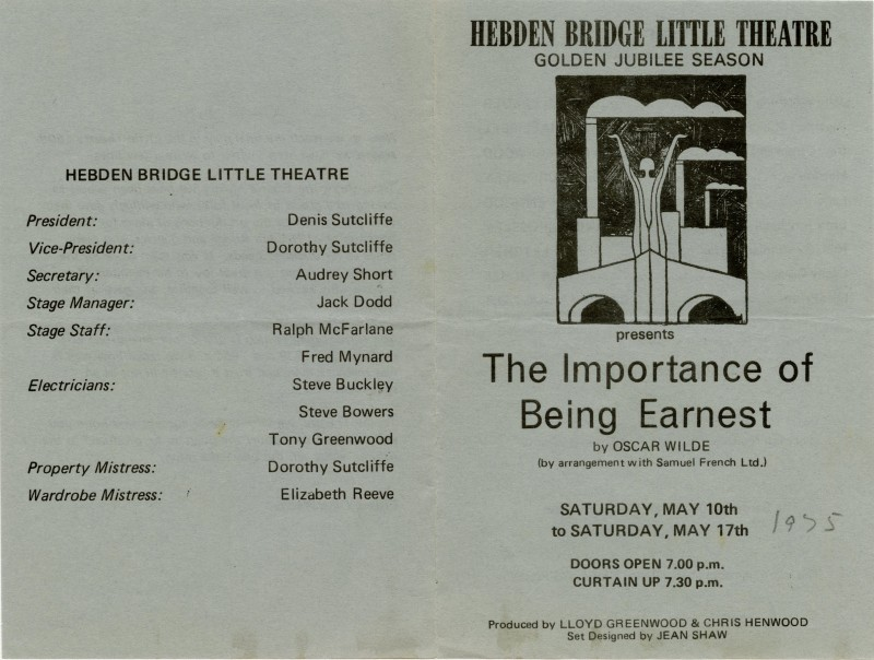 The Importance of Being Earnest programme