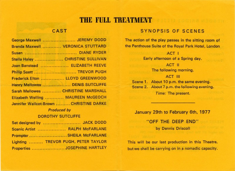 The Full Treatment programme