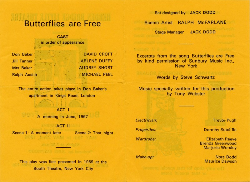 Butterflies are Free programme