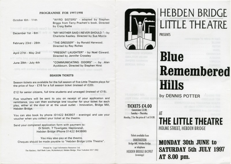 Blue Remembered Hills programme