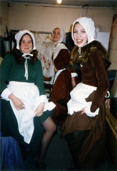 The Crucible cast, backstage