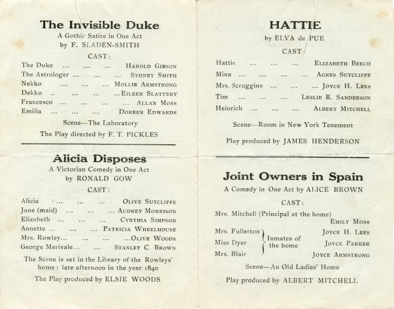 One-Act Plays, 1943