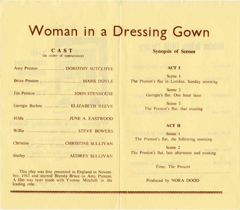 Woman in a Dressing Gown programme